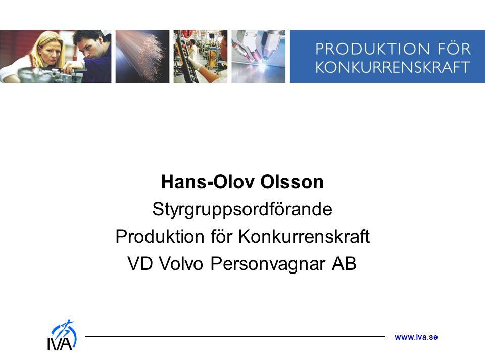 Styrgruppsordförande Produktion för Konkurrenskraft