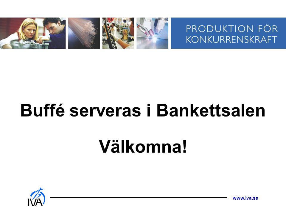 Buffé serveras i Bankettsalen