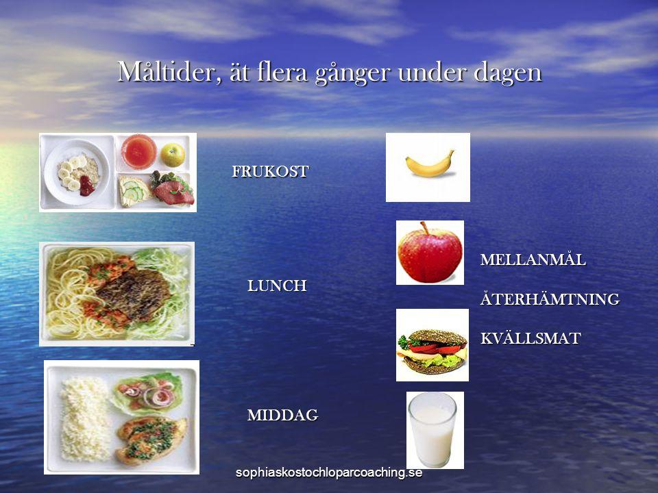 Måltider, ät flera gånger under dagen