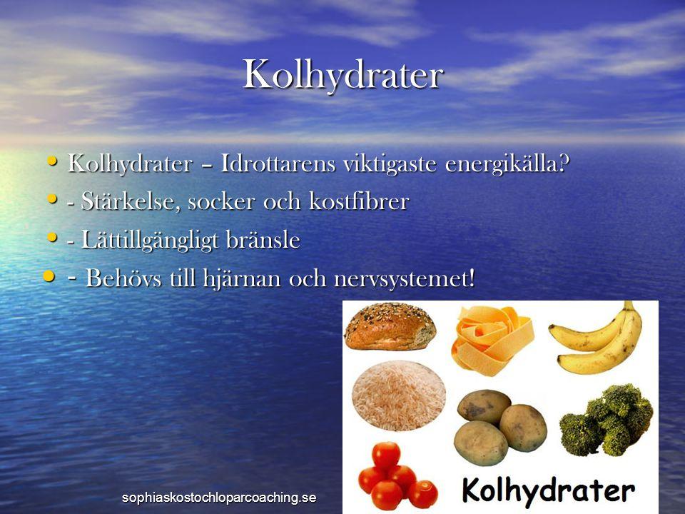 Kolhydrater Kolhydrater – Idrottarens viktigaste energikälla