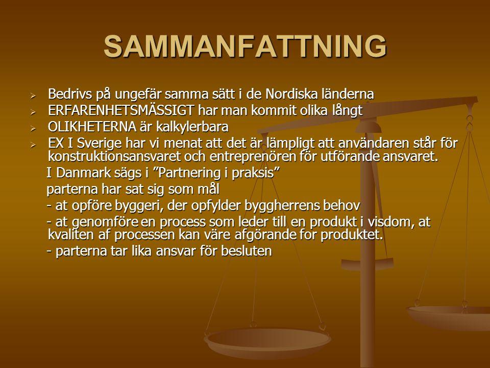 SAMMANFATTNING Bedrivs på ungefär samma sätt i de Nordiska länderna