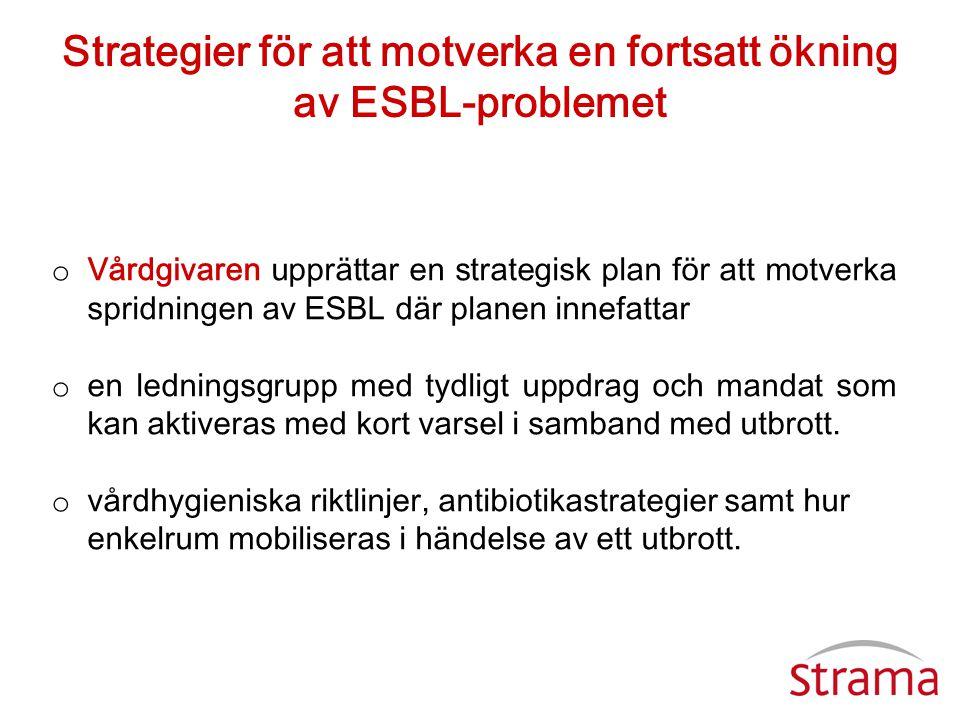 Strategier för att motverka en fortsatt ökning av ESBL-problemet