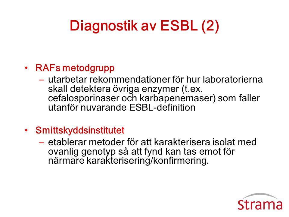 Diagnostik av ESBL (2) RAFs metodgrupp