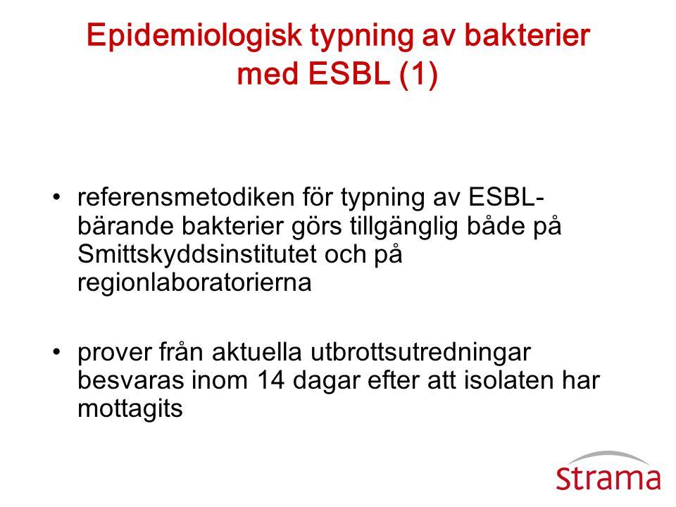 Epidemiologisk typning av bakterier med ESBL (1)