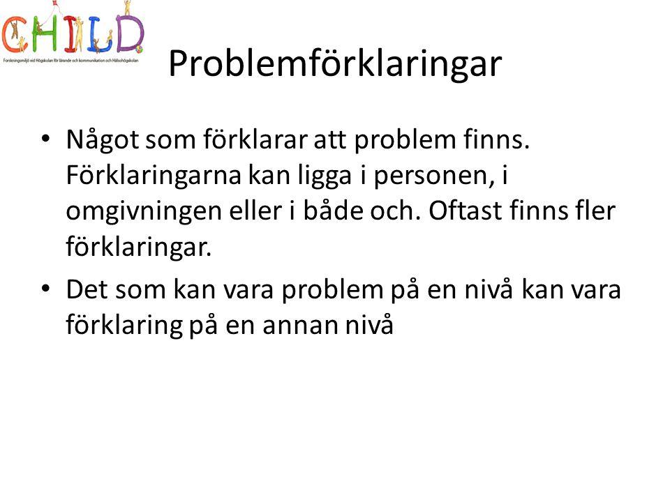 Problemförklaringar
