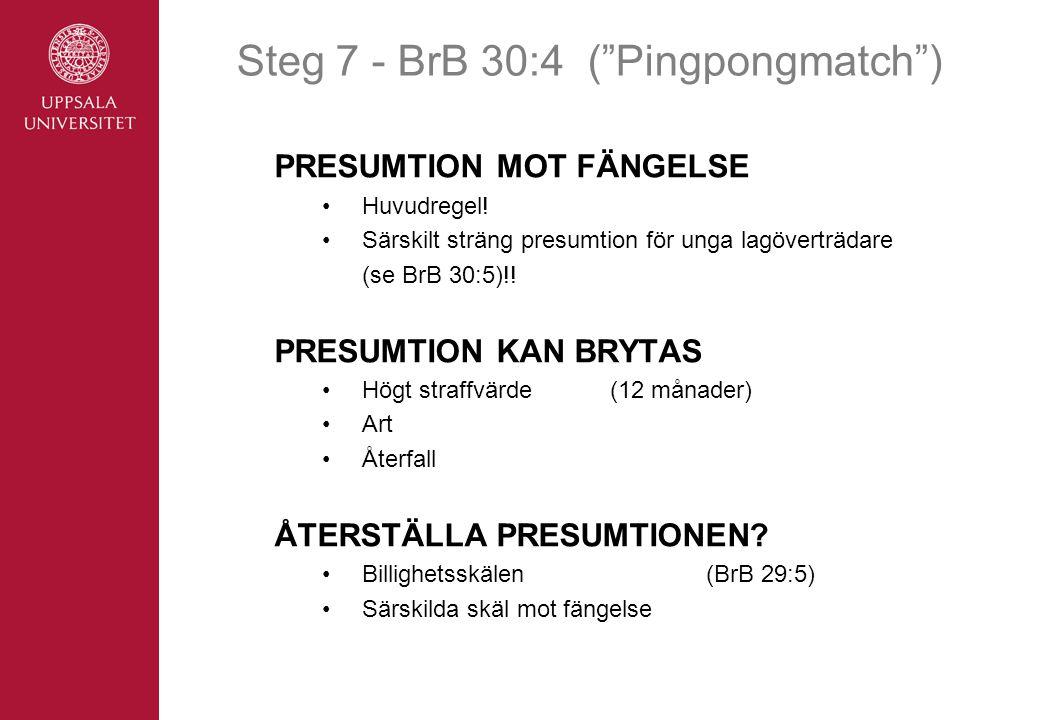 Steg 7 - BrB 30:4 ( Pingpongmatch )