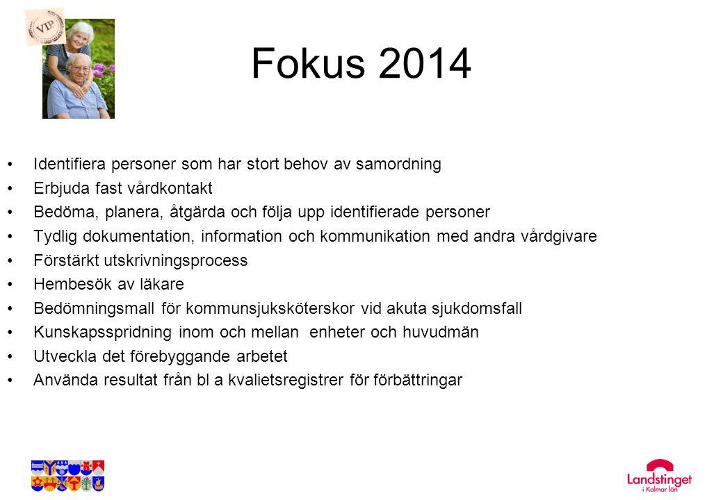 Fokus 2014 Identifiera personer som har stort behov av samordning