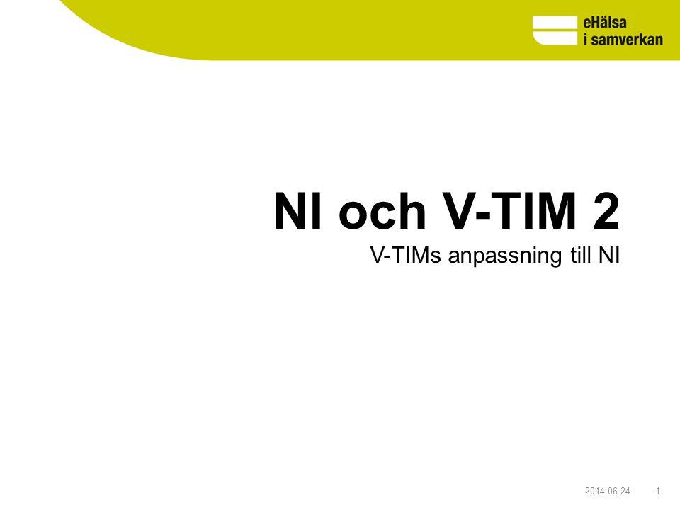 NI och V-TIM 2 V-TIMs anpassning till NI 2017-04-03 1