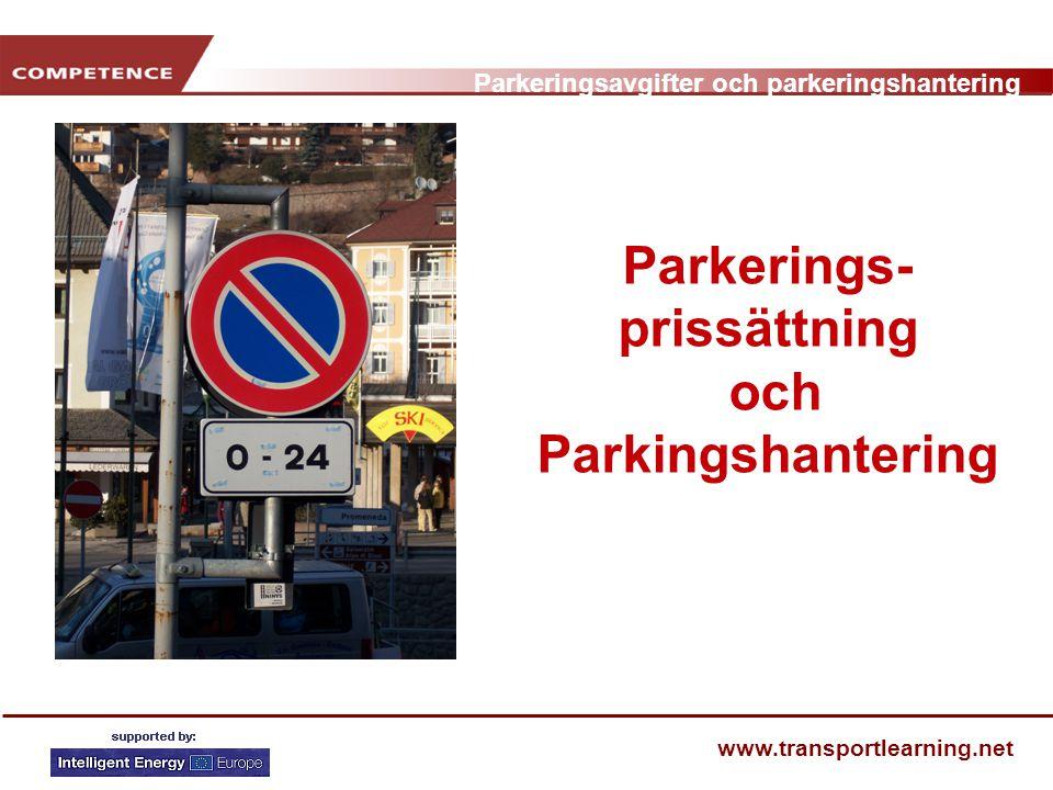 Parkerings-prissättning och Parkingshantering