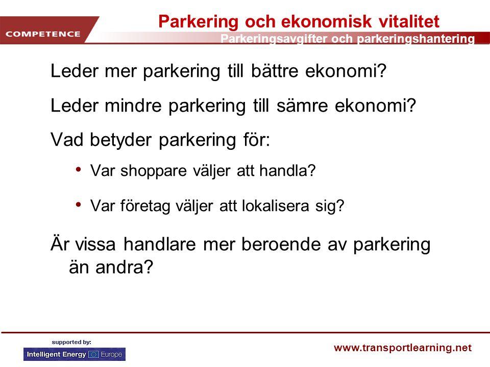 Parkering och ekonomisk vitalitet