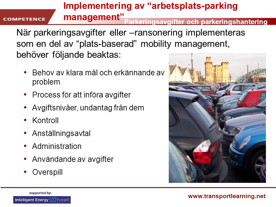 Implementering av arbetsplats-parking management