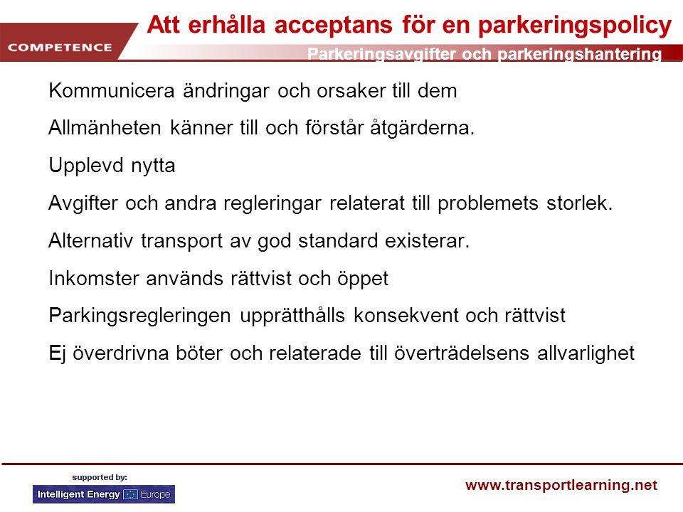 Att erhålla acceptans för en parkeringspolicy