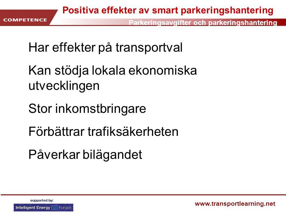 Positiva effekter av smart parkeringshantering