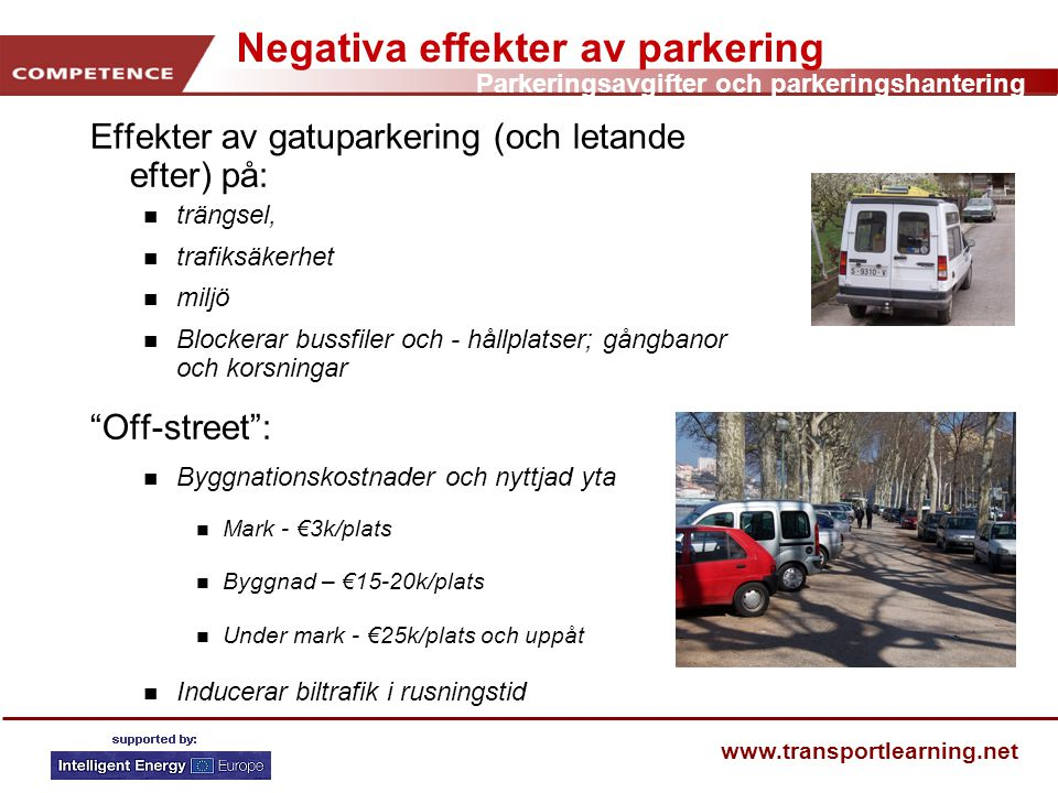 Negativa effekter av parkering