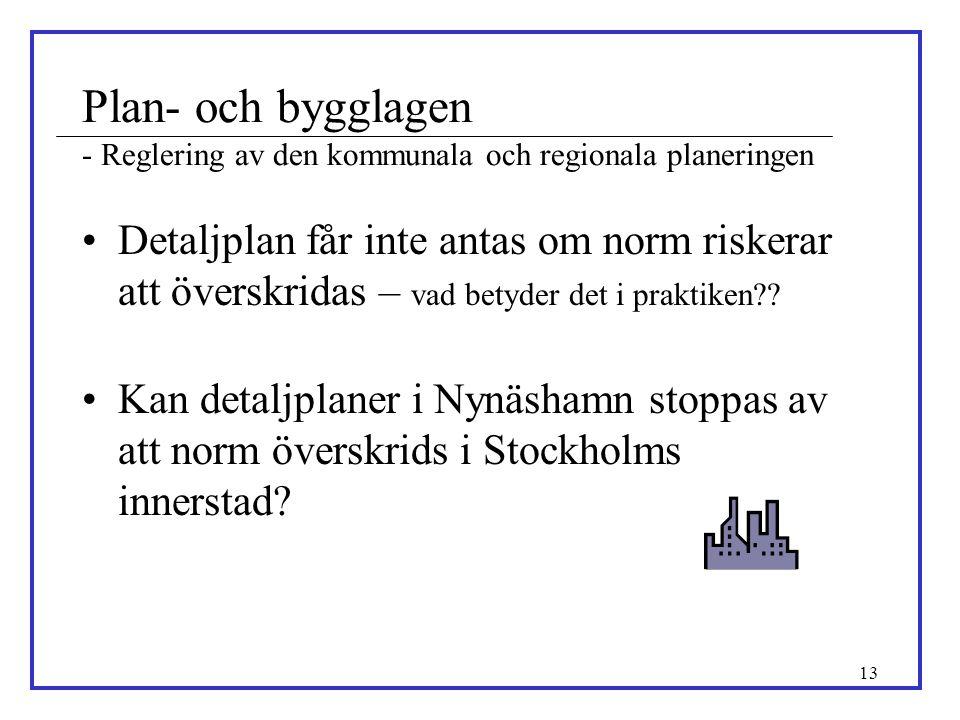 Plan- och bygglagen - Reglering av den kommunala och regionala planeringen