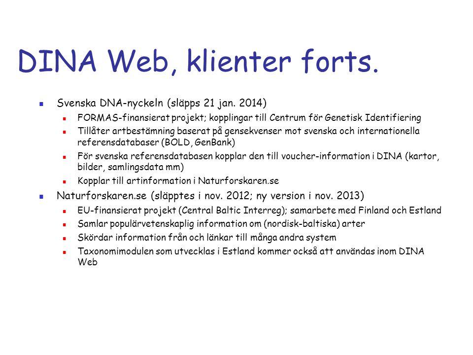 DINA Web, klienter forts.