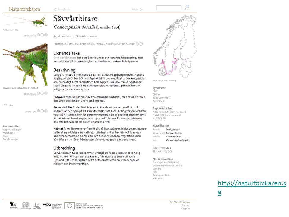 http://naturforskaren.se