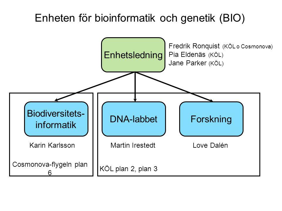 Enheten för bioinformatik och genetik (BIO)
