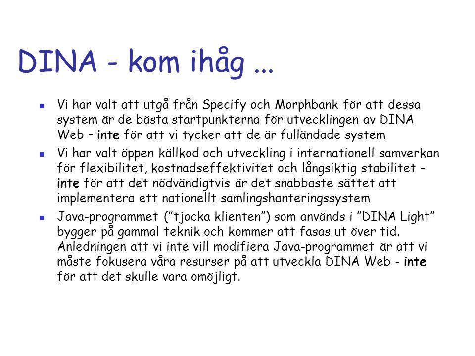 DINA - kom ihåg ...