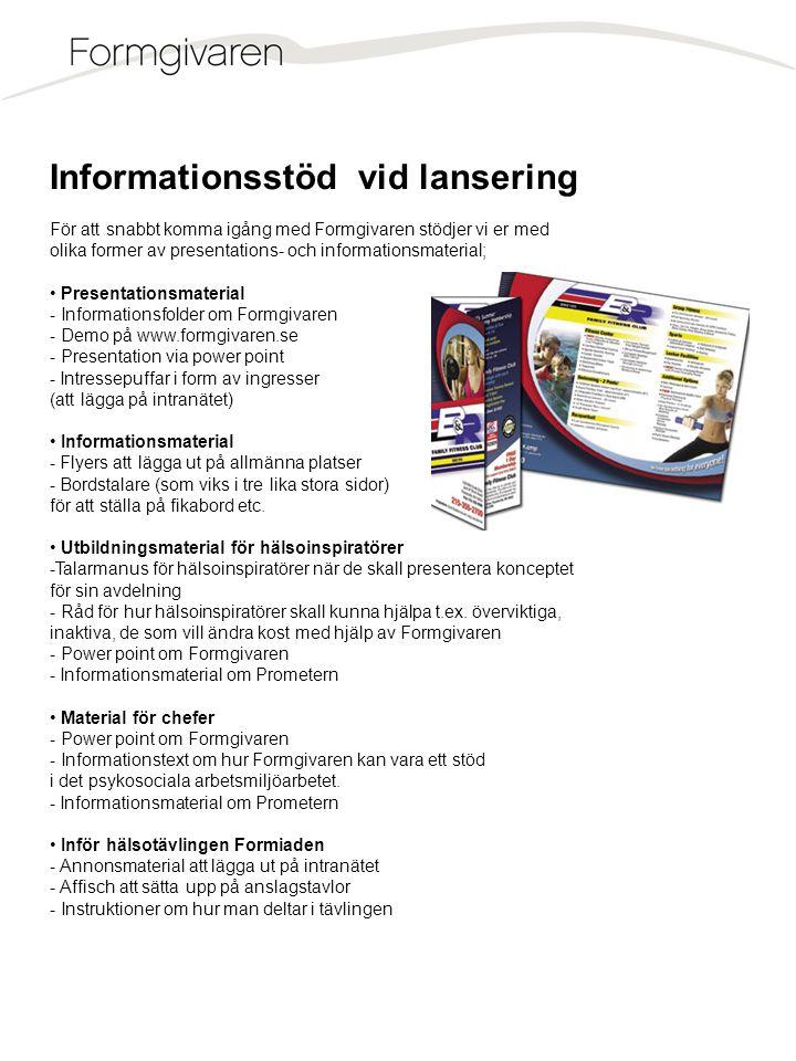 Informationsstöd vid lansering