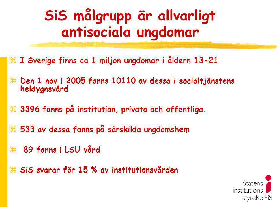 SiS målgrupp är allvarligt antisociala ungdomar