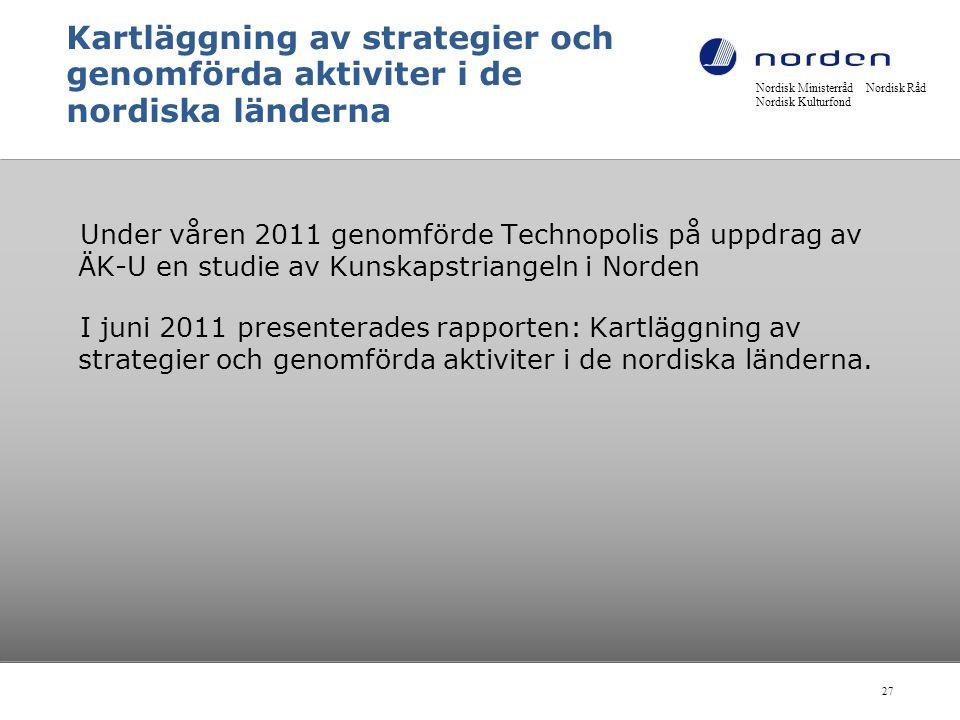 Kartläggning av strategier och genomförda aktiviter i de nordiska länderna