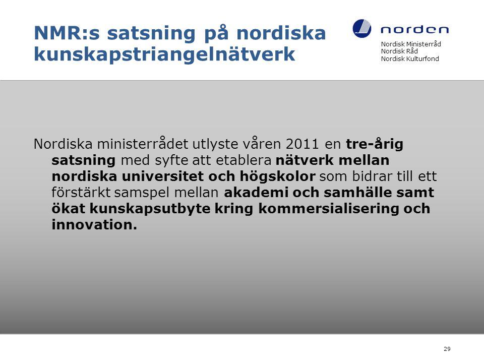 NMR:s satsning på nordiska kunskapstriangelnätverk