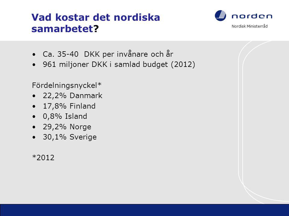 Vad kostar det nordiska samarbetet