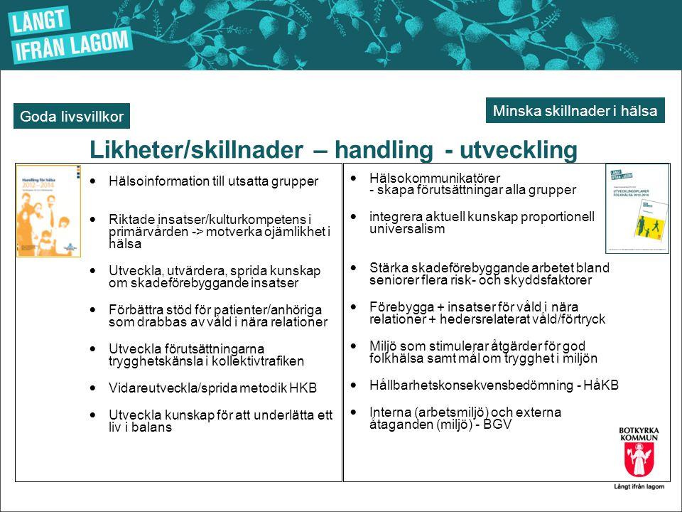 Likheter/skillnader – handling - utveckling