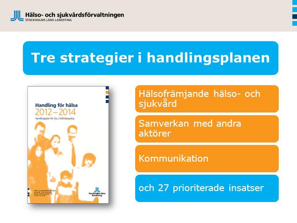 Tre strategier i handlingsplanen