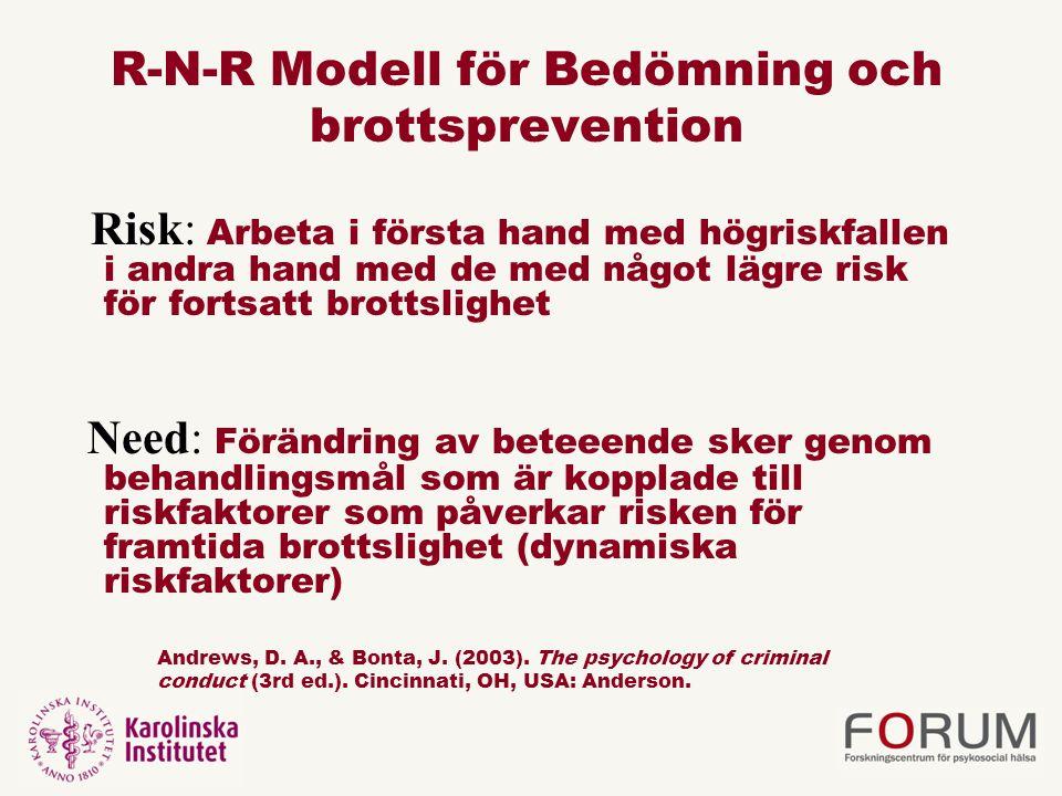 R-N-R Modell för Bedömning och brottsprevention