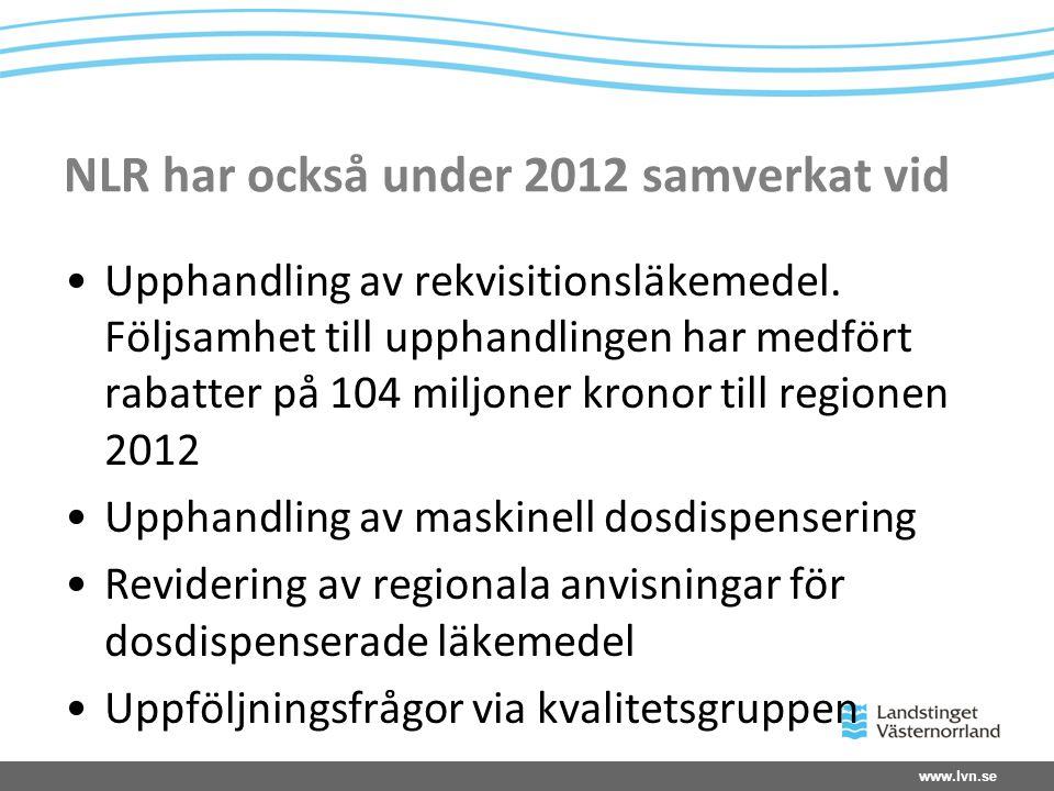 NLR har också under 2012 samverkat vid