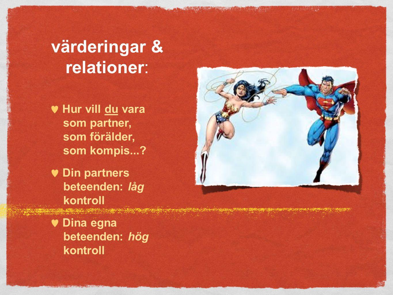 värderingar & relationer: