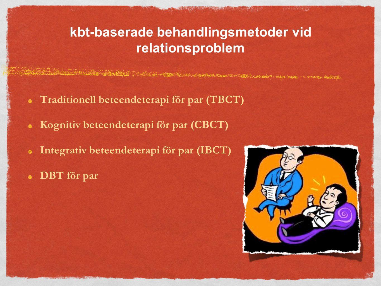 kbt-baserade behandlingsmetoder vid relationsproblem