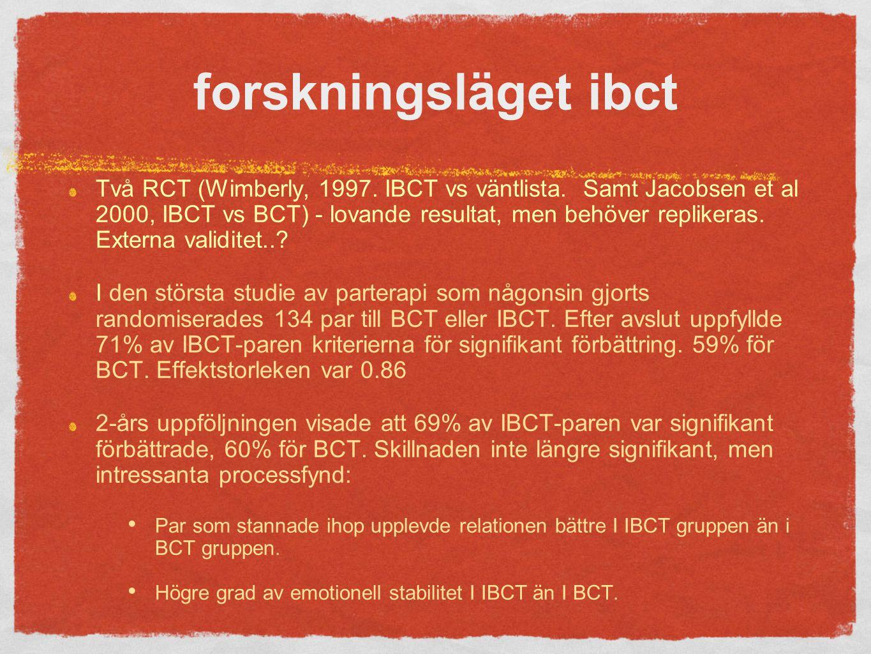 forskningsläget ibct