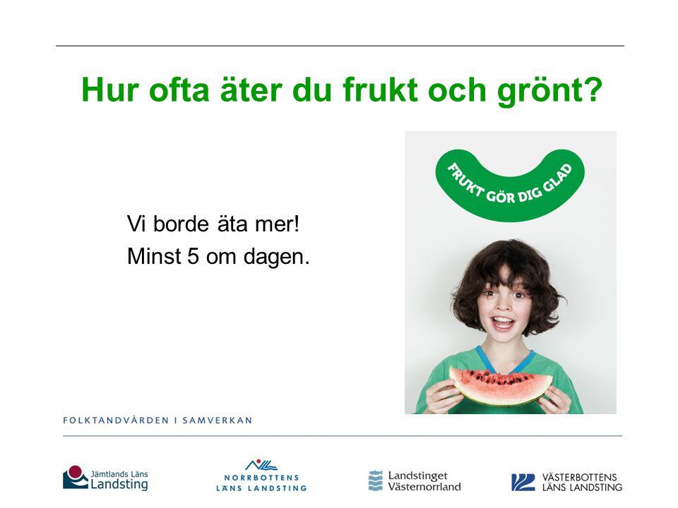 Hur ofta äter du frukt och grönt
