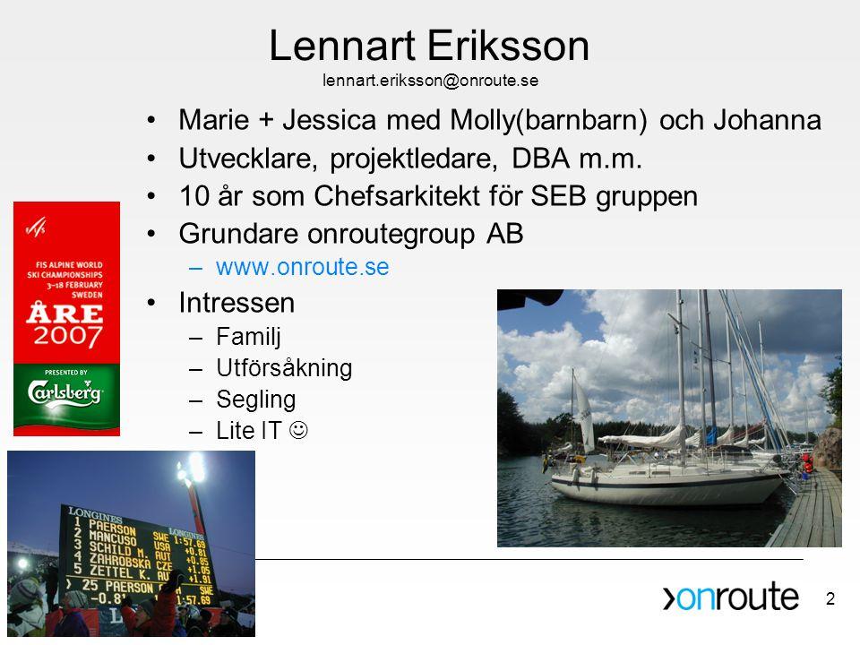 Lennart Eriksson lennart.eriksson@onroute.se