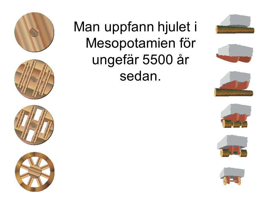 Man uppfann hjulet i Mesopotamien för ungefär 5500 år sedan.
