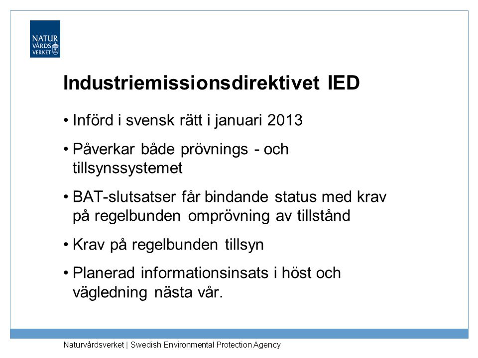 Industriemissionsdirektivet IED