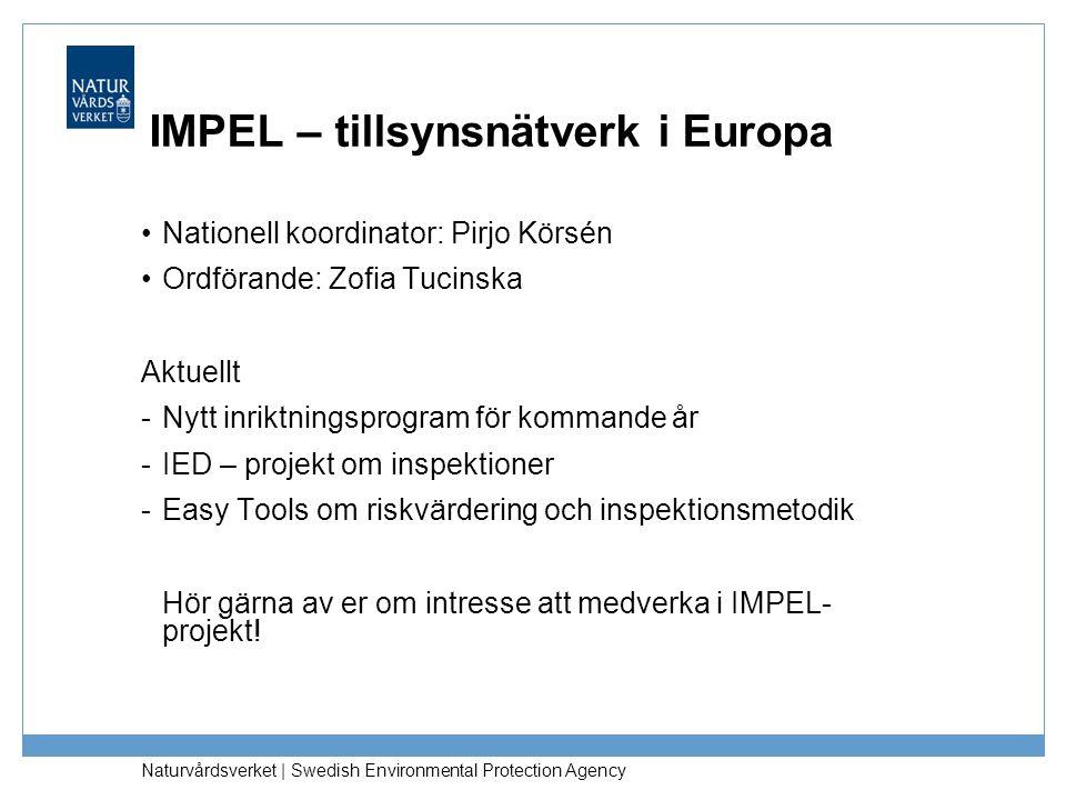 IMPEL – tillsynsnätverk i Europa