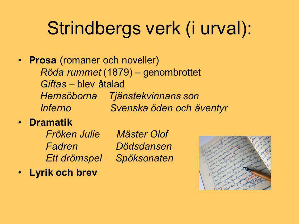 Strindbergs verk (i urval):