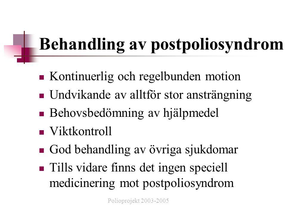 Behandling av postpoliosyndrom