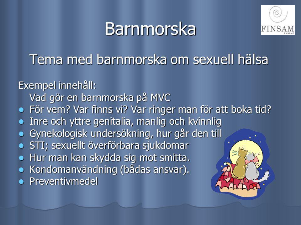 Barnmorska Exempel innehåll: