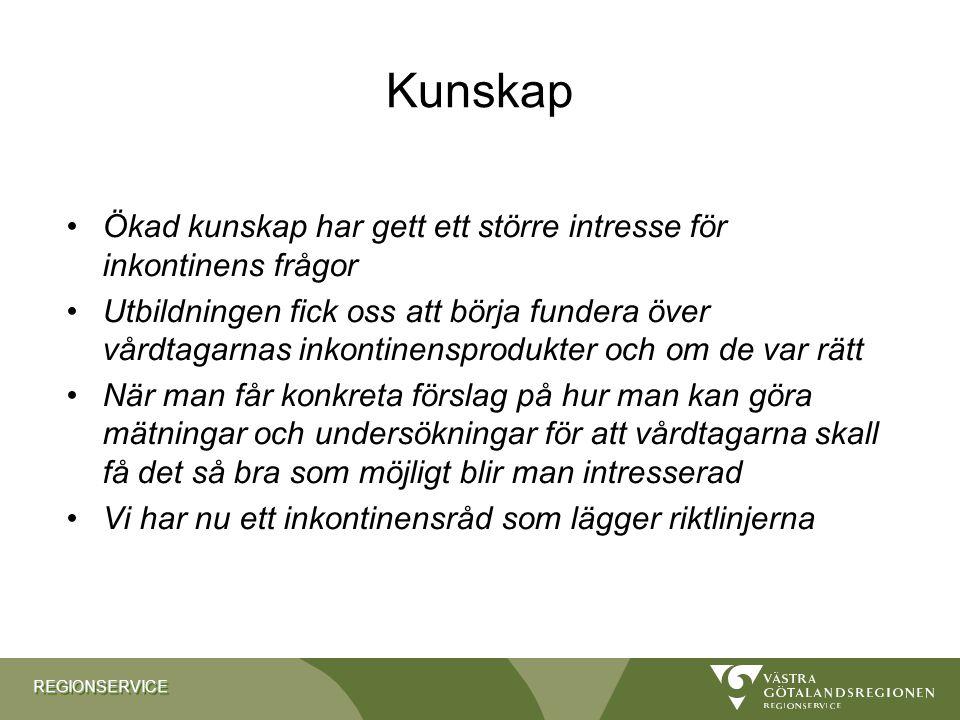 Kunskap Ökad kunskap har gett ett större intresse för inkontinens frågor.