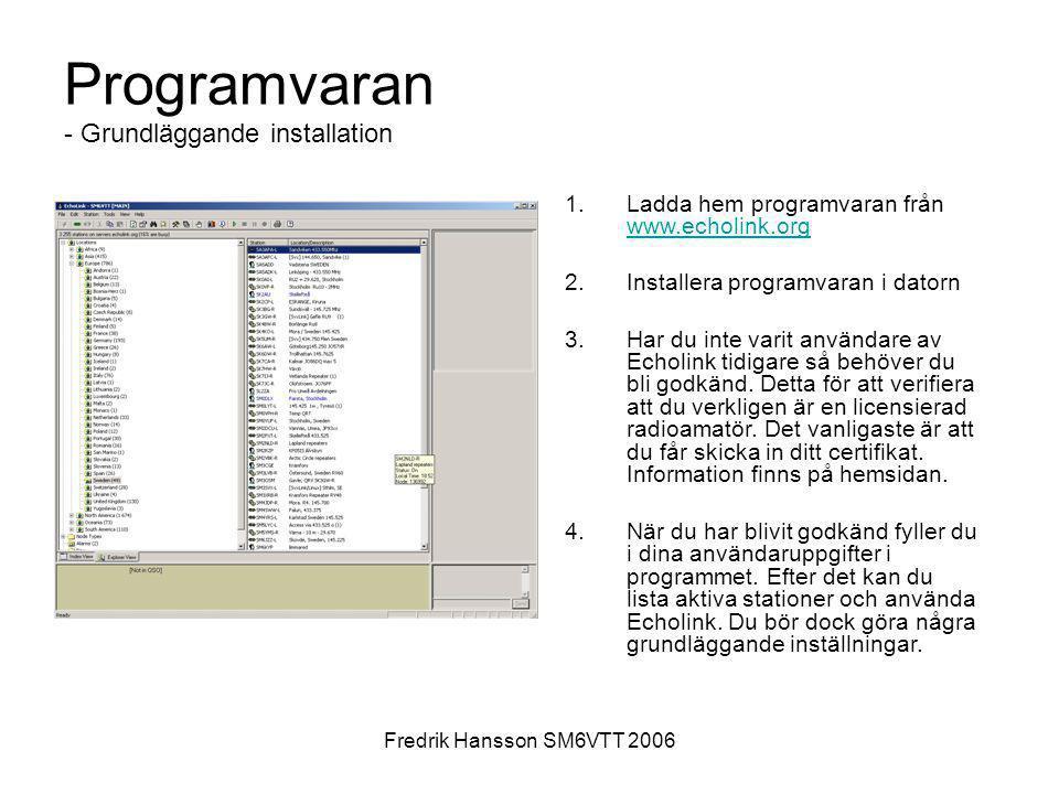 Programvaran - Grundläggande installation