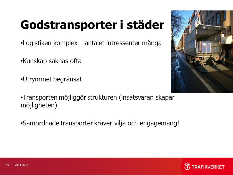 Godstransporter i städer