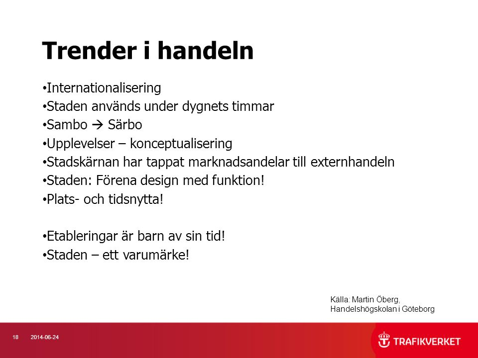 Trender i handeln Internationalisering