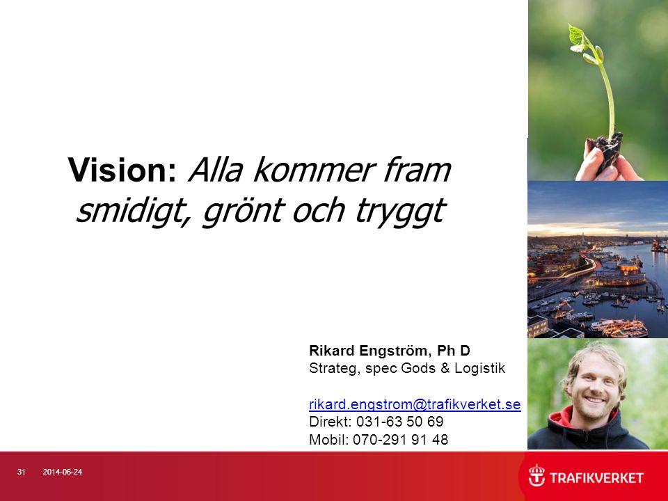 Vision: Alla kommer fram smidigt, grönt och tryggt