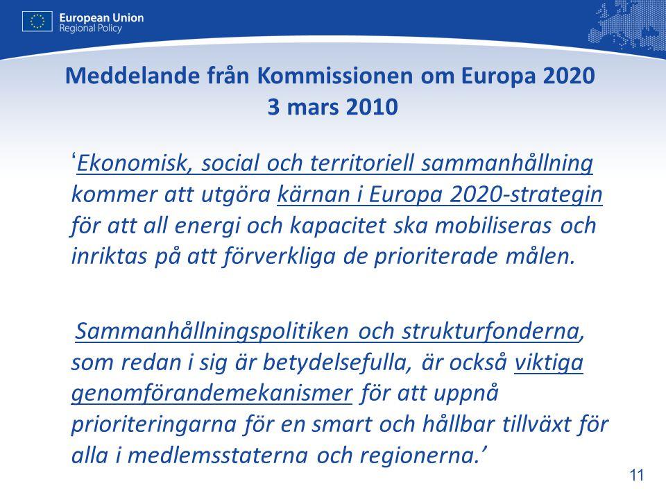 Meddelande från Kommissionen om Europa 2020