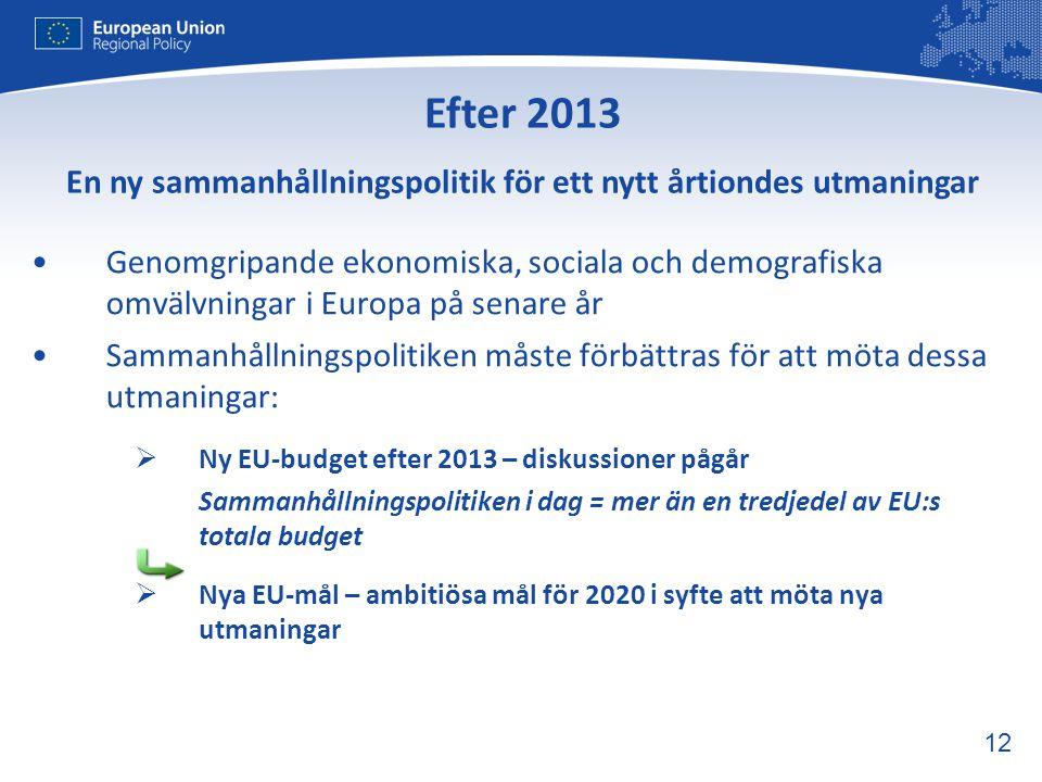 En ny sammanhållningspolitik för ett nytt årtiondes utmaningar